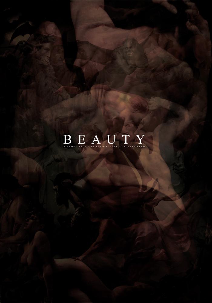 """Beauty için hazırlanan """"siyah"""" poster"""