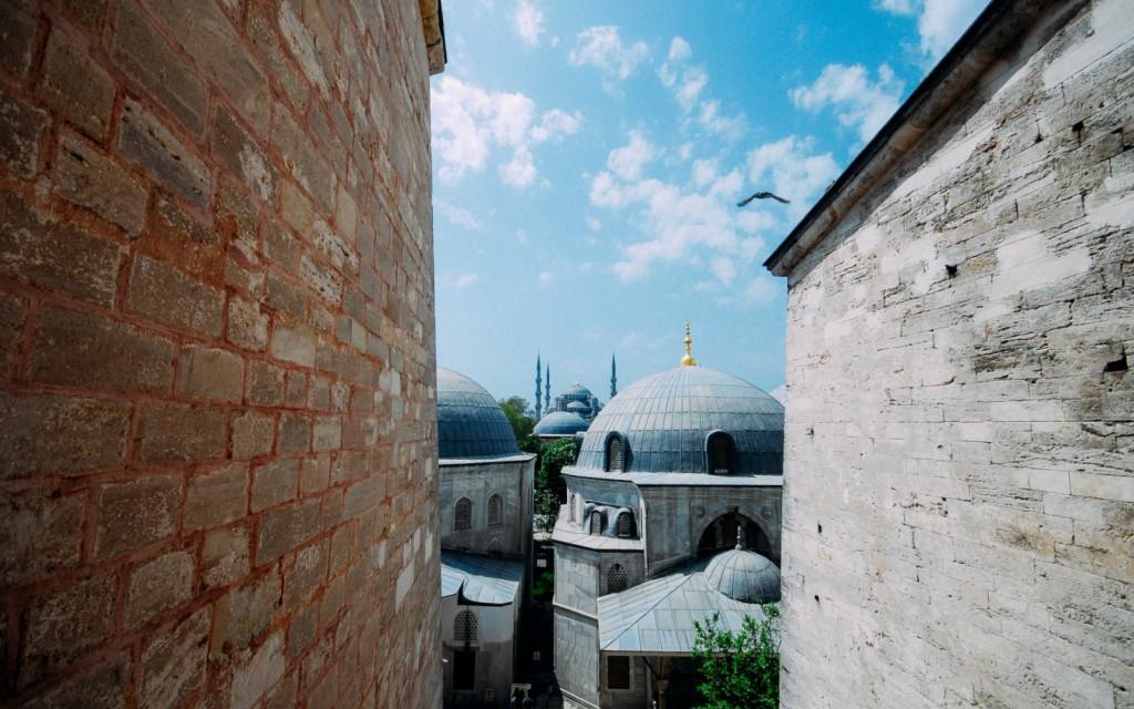 Ayasofya'nın penceresinden Sultanahmet, Fotoğraf : Oylum Yüksel