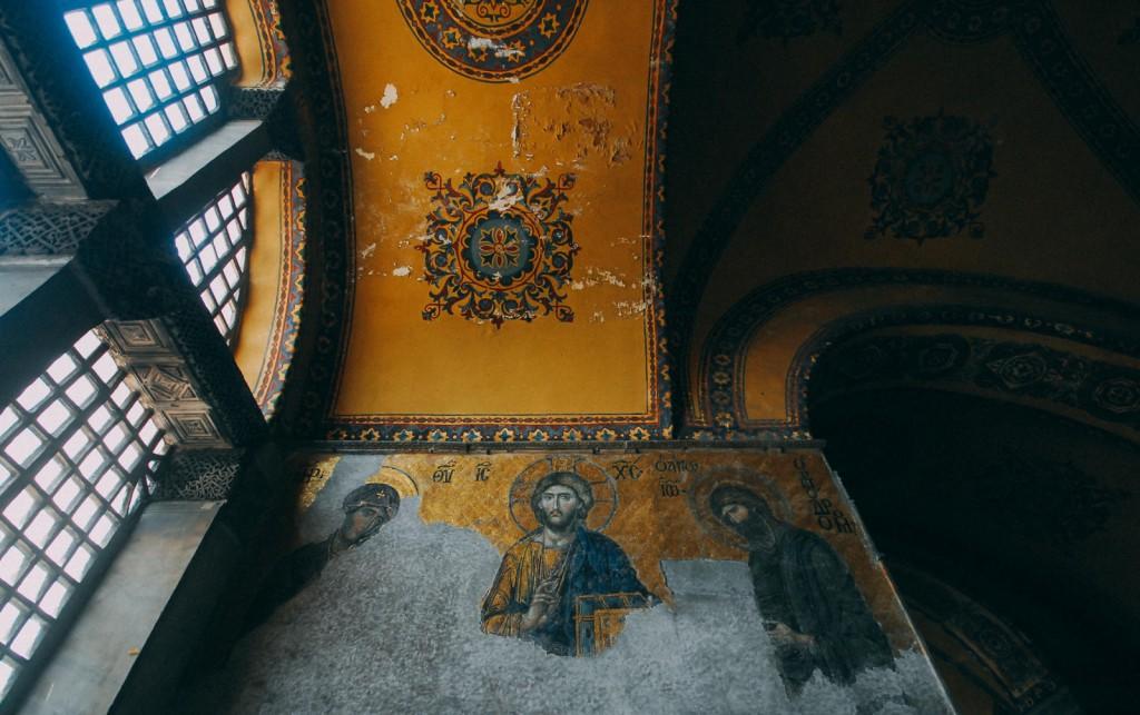 Ayasofya'daki Deesis (Son Yargı) Mozaiği, Fotoğraf : Oylum Yüksel