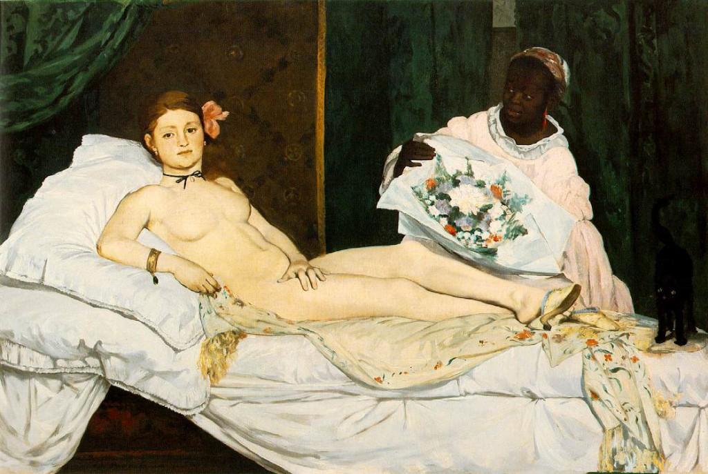 baya-iyi-Edouard Manet - Olympia (1863)
