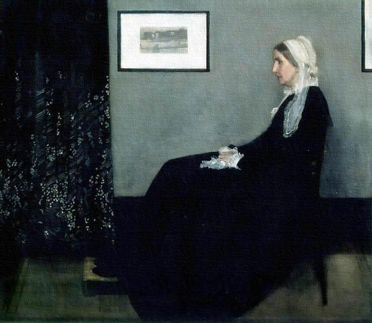 baya-iyi-James Abbott McNeill Whistler - Whistler's Mother (1871)