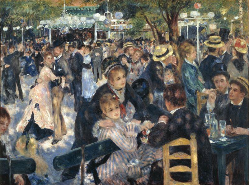 baya-iyi-Pierre Auguste Renoir - Dance at Le Moulin de la Galette (1876)