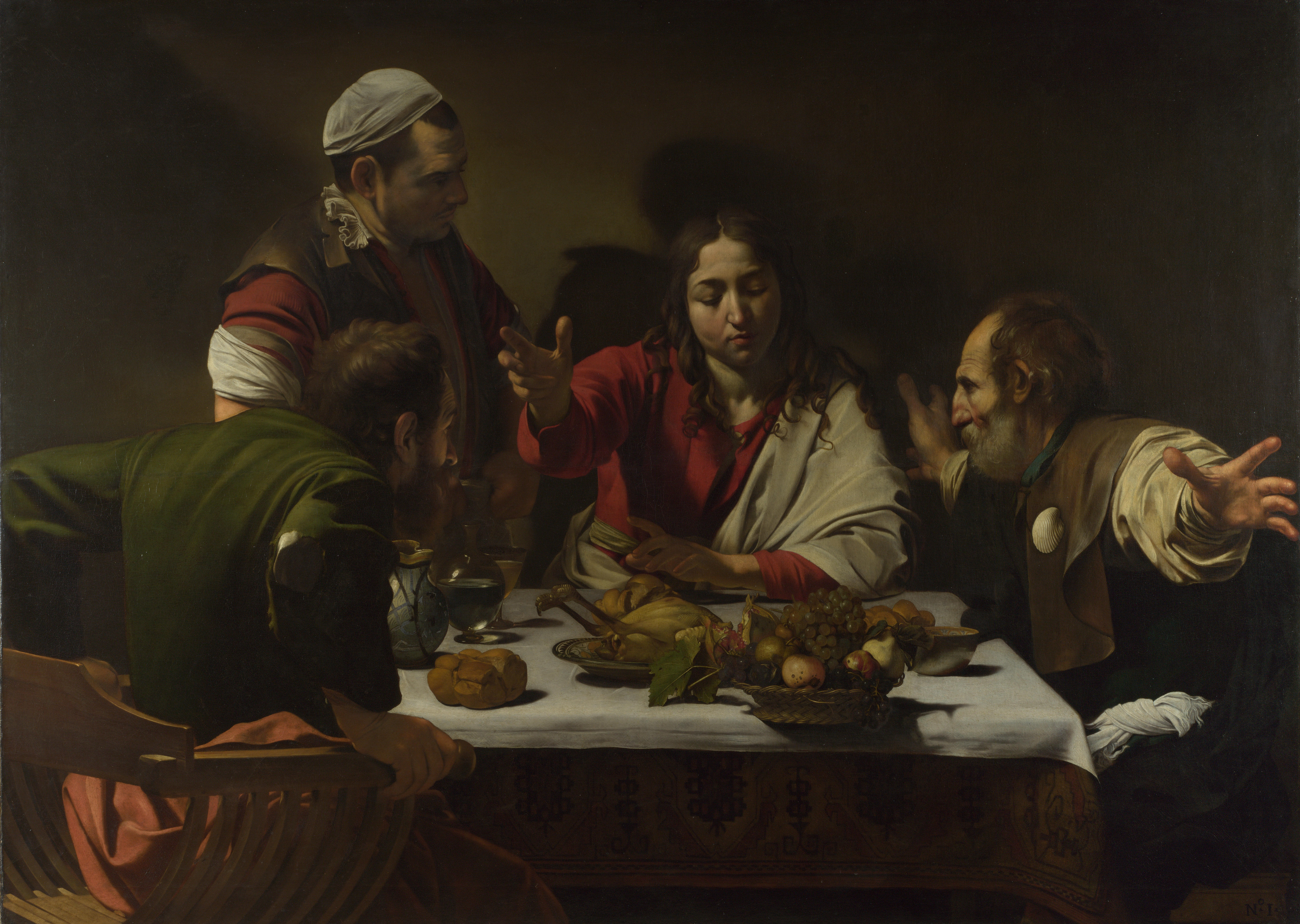1602-3_Caravaggio,Supper_at_Emmaus_National_Gallery,_London