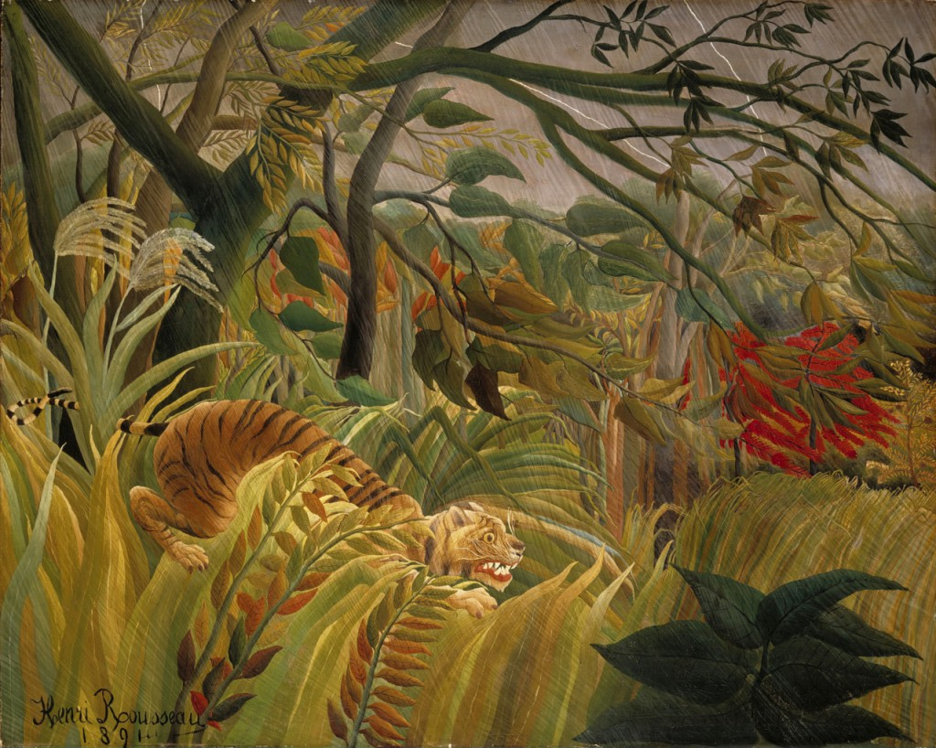 Henri Rousseau-Tiger in a Tropical Storm-Surprised