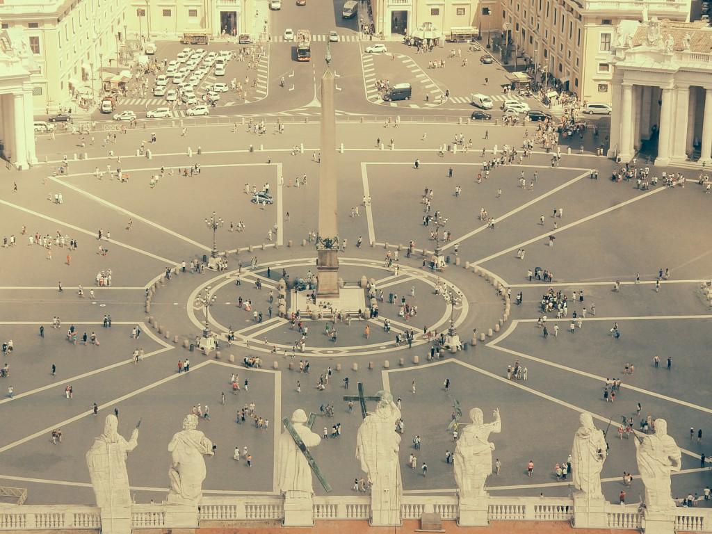 Dome'un üzerineden St.Peter's Bazilikası - 2014