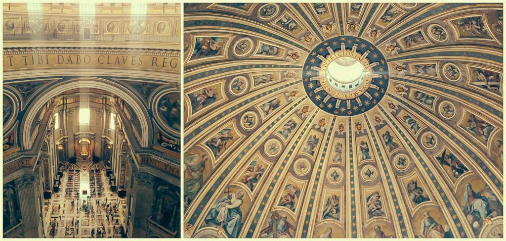 Bazilika'nın Kubbesi'nden aşağı ve yukarı bakış - 2014