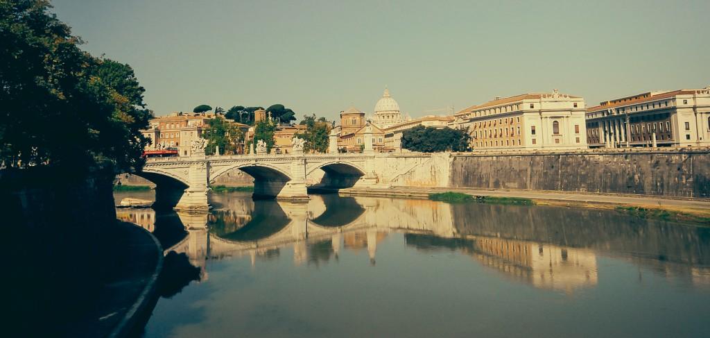 Castel Angelo Köprüsü'nden Vatikan - 2014