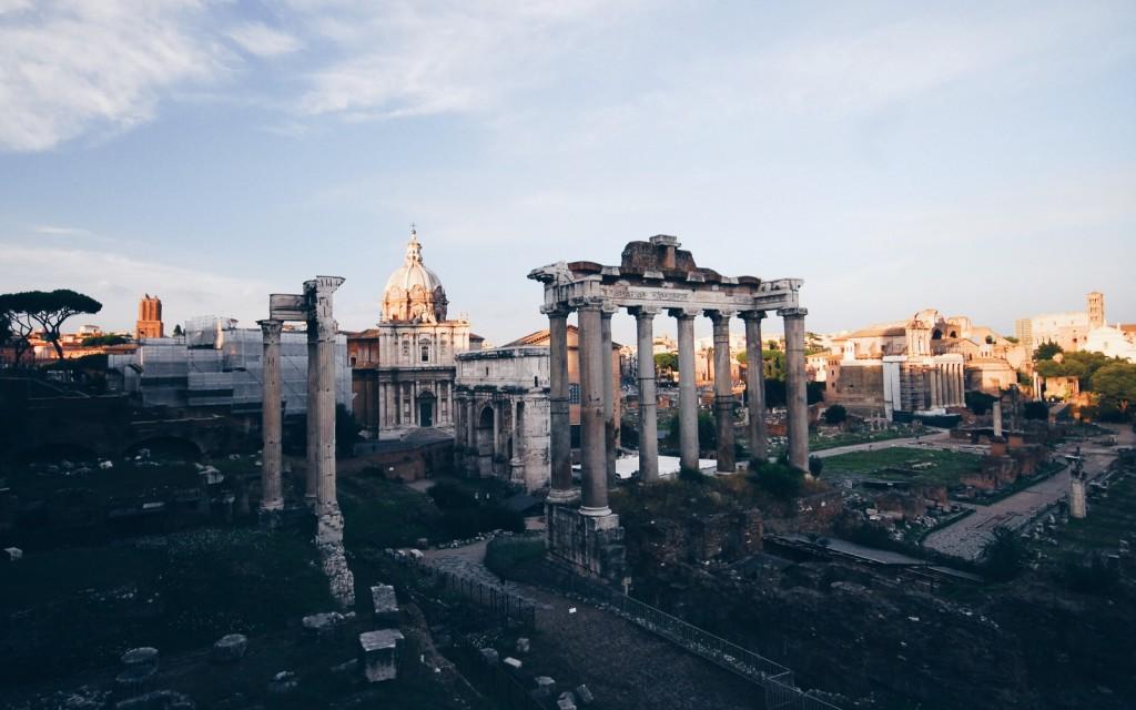 Musei Capitolini'den Forum Manzarası