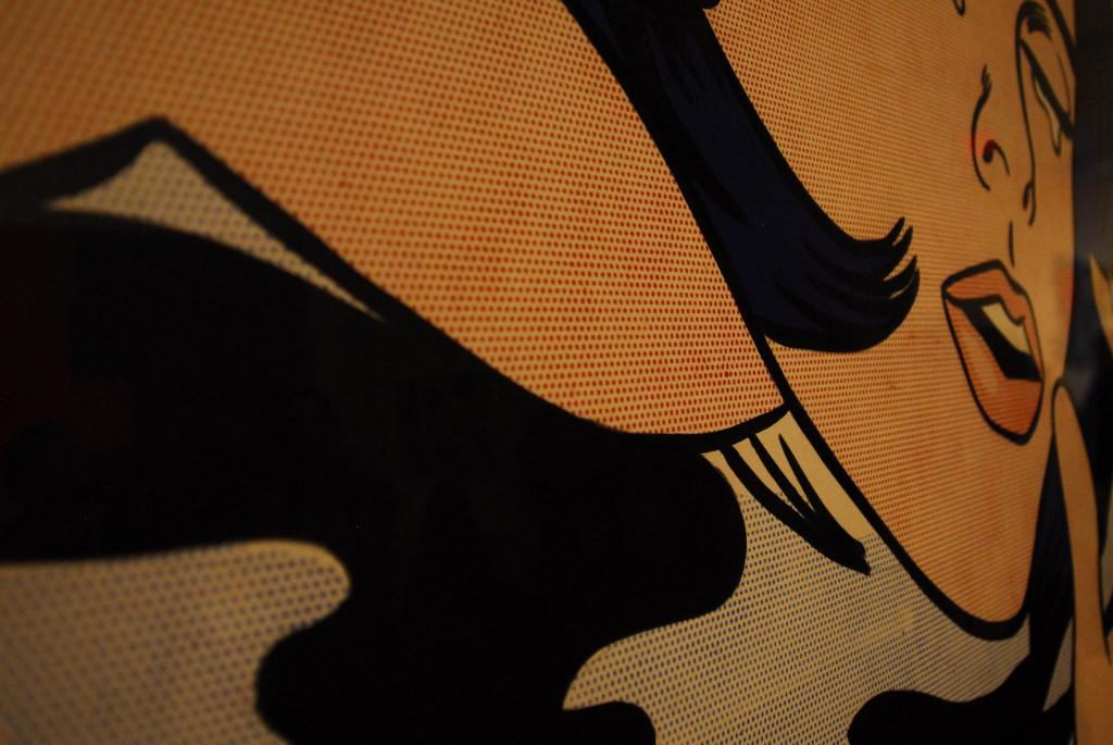 Roy Lichtenstein Drawning Girl (1963) yakın çekim, fotoğraf Oylum Yüksel 2008
