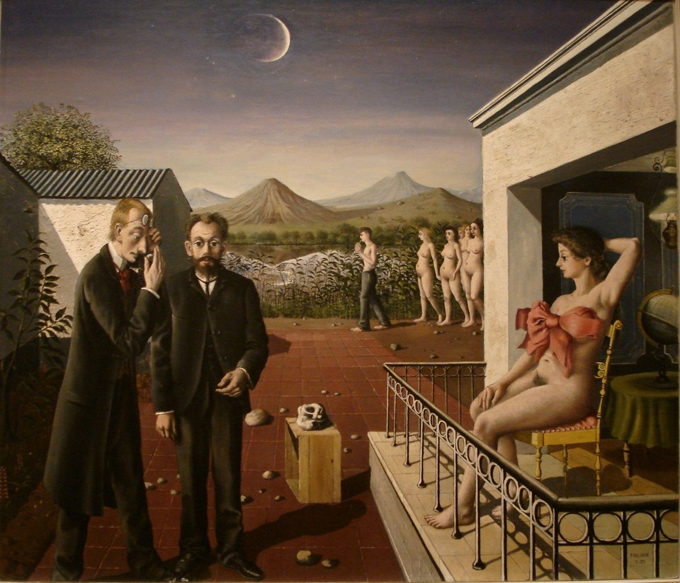 Paul Delvaux - Phases of the Moon (1939)