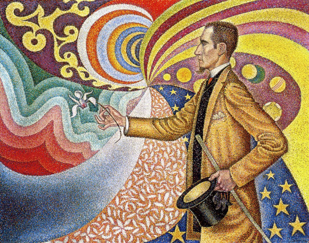 Paul Signac - Portrait of M. Felix Feneon (1890)