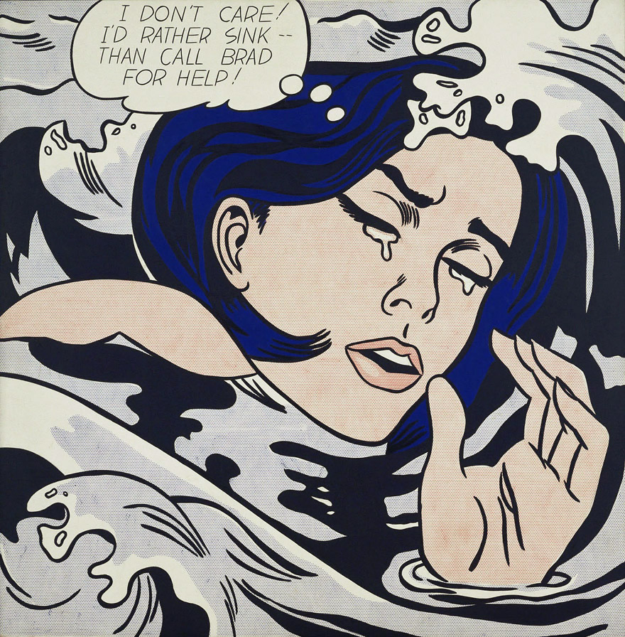 Roy Lichtenstein - Drawning Girl (1963)