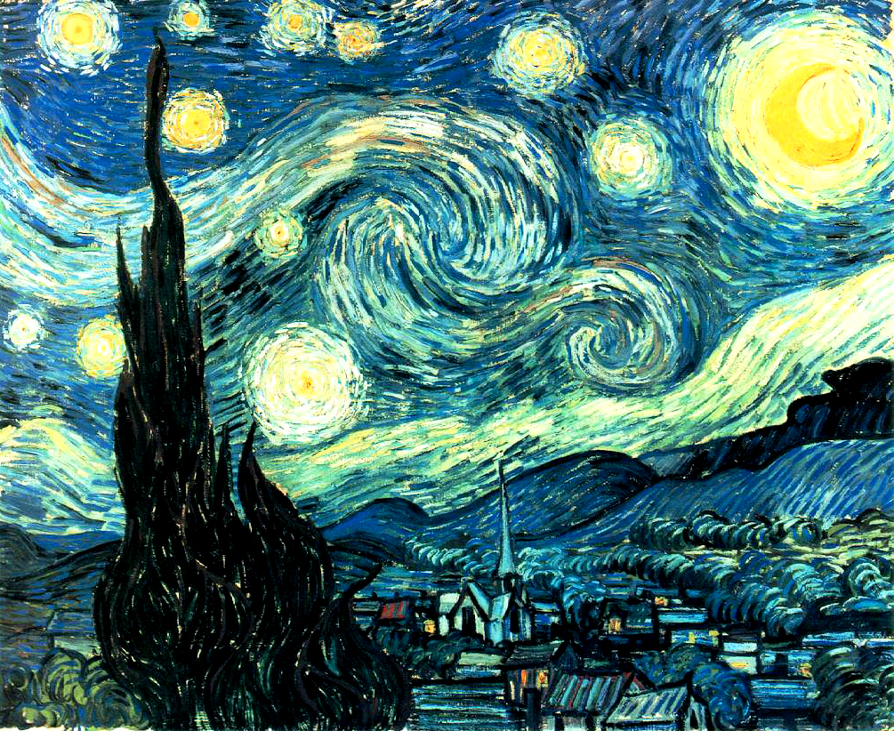 Vincent van Gogh - The Starry Night – Yıldızlı Gece (1889)