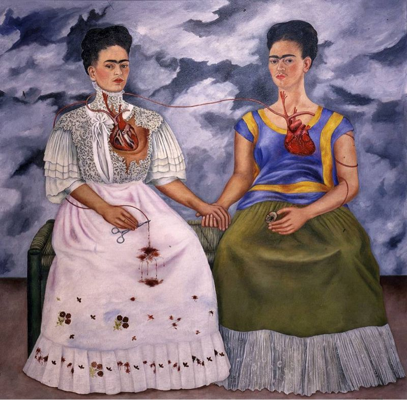 The two Fridas (1939) , Museum of Modern Art, Mexico City, Meksika, 173,5 cm x 173 cm