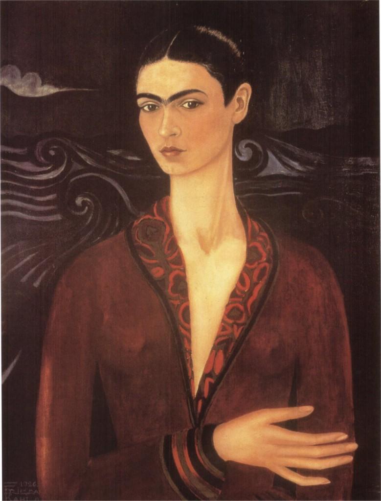 Self-portrait of a Velvet Dress (1926) , Özel koleksiyon, 31 cm x 23 cm