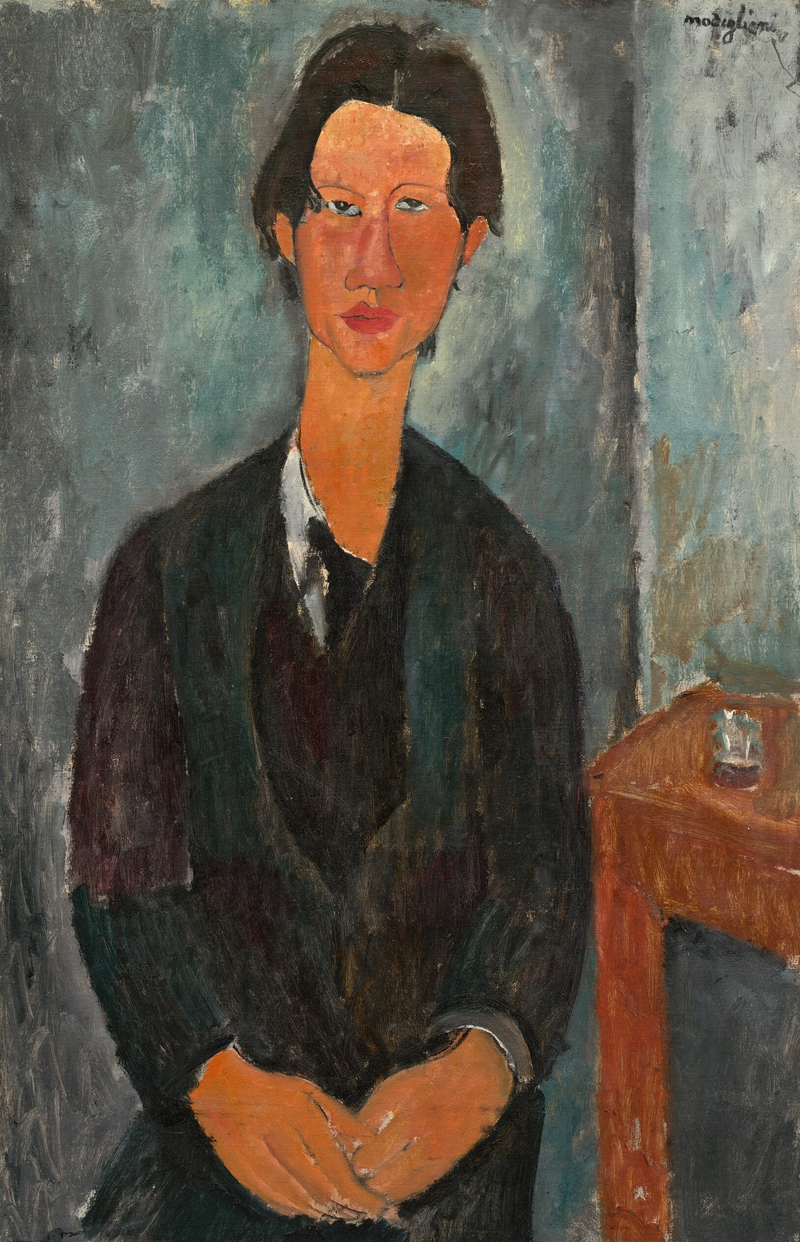 Amedeo Modigliani, Chaim Soutine, Italian, 1884 - 1920, 1917, oil on canvas, Chester Dale Collection