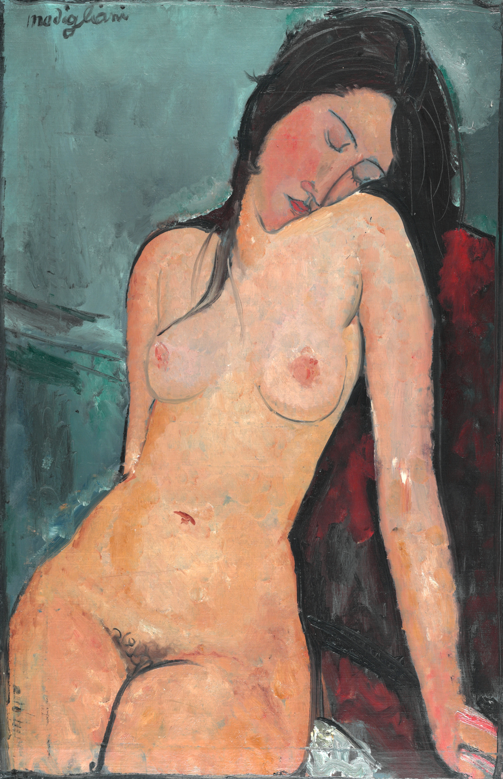 Female Nude (1916), Courtauld Institute of Art, Londra, İngiltere, 92,4 cm x 59,8 cm