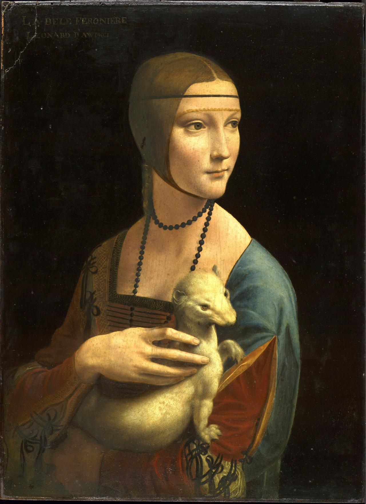 Lady with an Ermine, Leonardo da Vinci, Czartoryski Müzesi, Kraków, Polonya