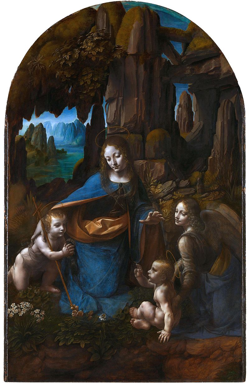 Virgin of the Rocks, Leonardo da Vinci, The National Gallery, Londra, İngiltere