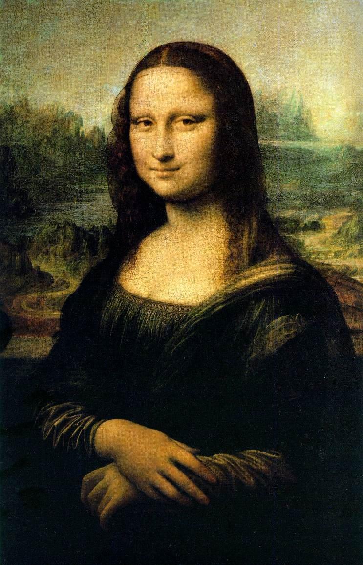 Mona Lisa, Leonardo da Vinci, Louvre Müzesi, Paris, Fransa