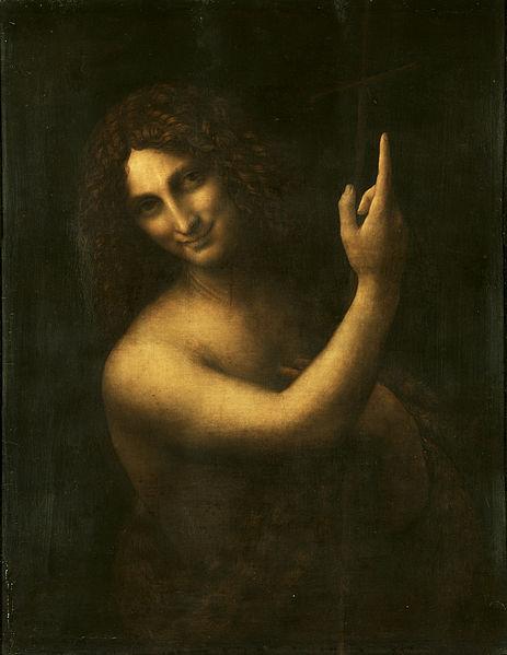 St. John the Baptist, Leonardo da Vinci, Louvre, Paris, Fransa