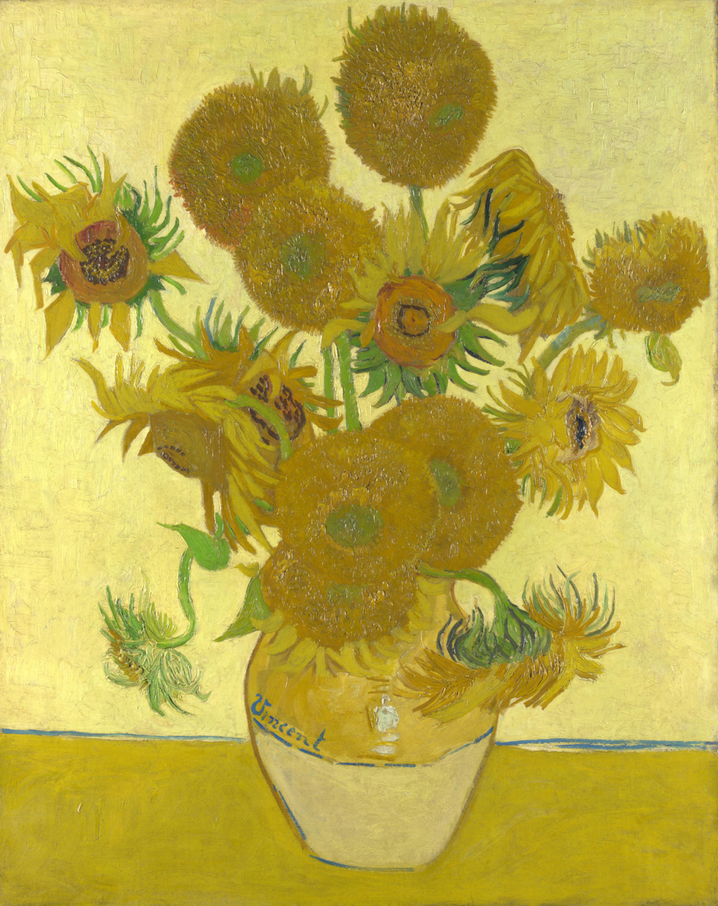 Sunflowers, Vincent Van Gogh, The National Gallery, Londra, İngiltere