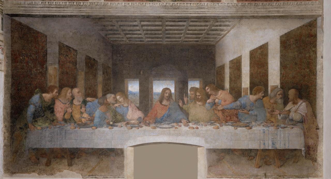 The Last Supper, Leonardo da Vinci, Santa Maria della Grazie, Milano, İtalya