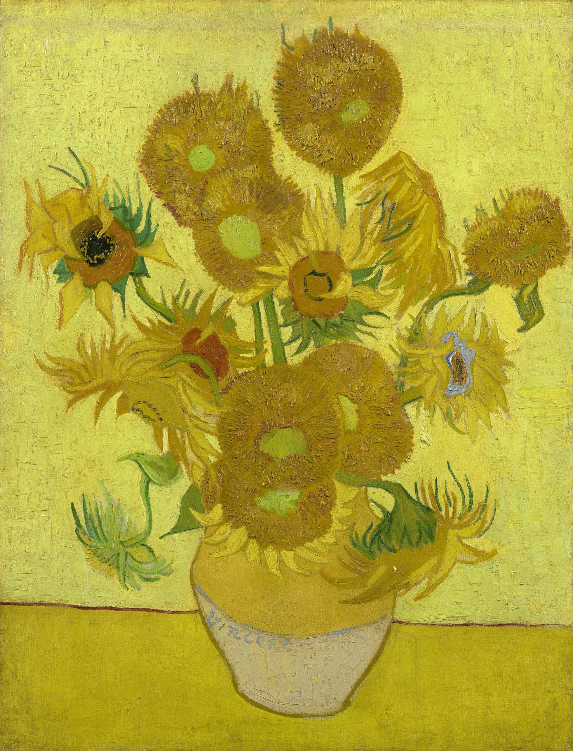 Sunflowers (1889), Vincent Van Gogh, Van Gogh Museum, Amsterdam, Hollanda