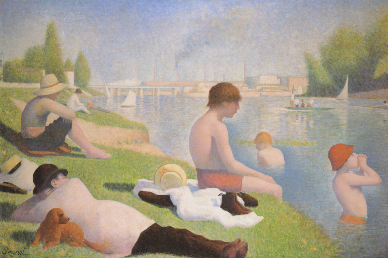 Bathers at Asnieres - Georges Pierre Seurat